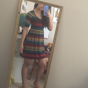 Striped mini dress
